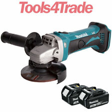 Makita DGA452Z 18V Li-Ion 115mm Angle Grinder with 2 x 3.0Ah BL1830 Batteries