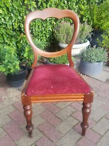Antique Victorian Mahogany Ballon Back Chair