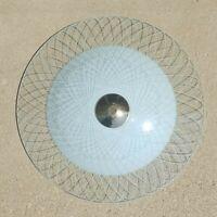 Lrge 2 Piece Vintage Mid Century Modern CEILING LIGHT SHADE Atomic Glass Fixture