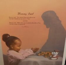 "DANISE HAHLBOHM ""MOMMY SAID"" AFRICAN AMERICAN GIRL PRAYING PRINT"