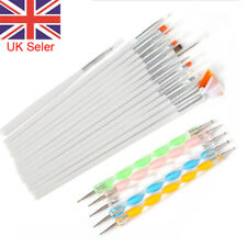 20PCS UV Gel Nail Art Design Set Dotting Painting Drawing Polish Brush Pen Tools