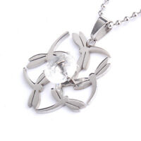 """316L Stainless Steel Pendant1.38X1.38Inch Dragonfly  Silver Necklace 22"""" B37"""