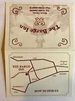 The Barge Inn Advertisement Card & Map Hotel Advertisement Vintage Seend Cleve