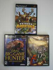 PS2 Cabelas Hunting Lot - Dangerous Hunts 2, Big Game Hunter, Outdoor Adventures
