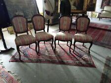 4 Stühle Sessel Altdeutsch Nuss um 1880