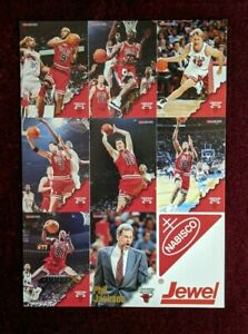 1997 Skybox Hoops Bulls Team Uncut Michael Jordan Nabisco Jewel Perforated RARE