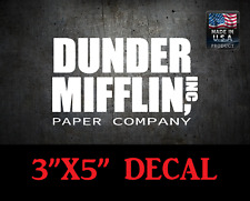 The Office Dunder Mifflin Paper Company Truck Decal Car vinyl Windshield Sticker