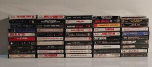 Lot of 50 70s 80s 90s Rock Metal Alternative Cassette Tapes Pink Floyd Metallica