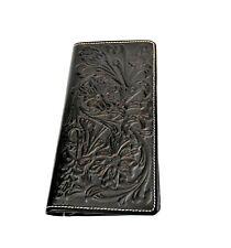 Montana West Men's Long Wallet Genuine Tooled Leather Western Cowboy Wallet