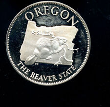 Oregon The Beaver State sterling silver proof coin 14.58 grams C693