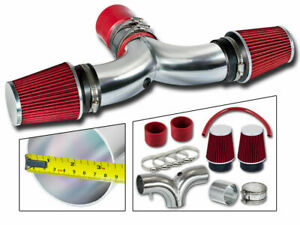 Dual Twin AIR INDUCTION INTAKE KIT+DRY Filter For 03-08 Ram1500 5.7L HEMI V8