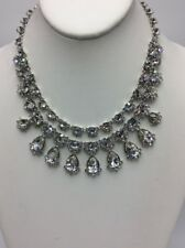 $225  Givenchy silver tone two row collar Necklace 771 GN