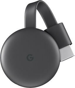 Google Chromecast 3. Generation (Kompakter WLAN Full HD Media Streamer, Schwarz)