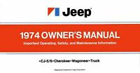 Bishko OEM Maintenance Owner's Manual Bound for Jeep All Models 1974