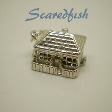 "3D ""COUNTRY COTTAGE"" Opening Sterling Silver Charm Pendant with Jump Ring"