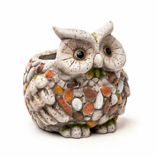Pot de Fleur Hibou, Cache-Pot Animal, Figure de Plantation Aspect Pierre, Bac ,