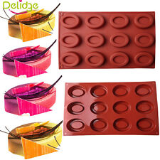 Oval Silicone Cake Mould Baking Tray Pastry Biscuit Bakeware Muffin Pan Tool