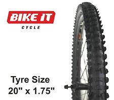 "ECONOMY MTB TYRE 20"" x 1.75 KNOBBLY TREAD MOUNTAIN BIKE BICYCLE CYCLE TIRE"