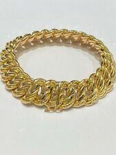 Imposant Bracelet maille Américaine Gourmette Or Jaune 18 Carats 30 gm