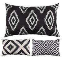 50 x 30cm canapé géométrique moderne housse de coussin taie d'oreiller décor