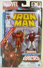 "SILVER CENTURION vs. MANDARIN Marvel Universe 4"" inch Figures Comic Packs 2012"