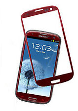 TOP QUALITY SAMSUNG GALAXY S3 i9300 OUTER SCREEN GLASS REPLACEMENT LENS RED