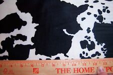 Minkee Cow Fabric Black & White Holstein Animal Skin Minky Fabric Benartex Minky
