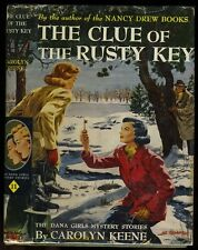 Dana Girls: (#11) The Clue of the Rusty Key HB/DJ later copy (1942)