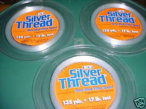 3-Silver Thread Copolymer Filler Spools 17LB / 135YD EA