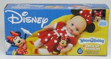 DISNEY WATER BABIES ~ DRESS UP SNUGGLERS ~MINNIE MOUSE WITH RATTLE~Playmates~NEW
