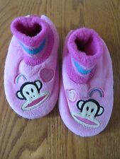 Paul Frank Toddler Girls Pink Monkey Slippers Size XL (11/12) VGUC