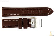 Luminox 9200 F-22 Raptor 24mm Brown Leather Watch Band w/ Ivory Stitching 9247