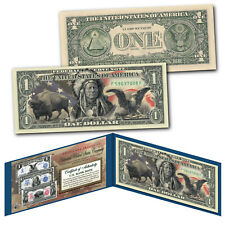 Americana Images of Historical U.S. Currency Genuine Legal Tender $1 Bill EAGLE