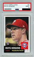 2018 Topps Living #4 RHYS HOSKINS RC Rookie (Phillies) PSA 9 MINT *PR 5446