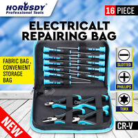 Precision Screwdriver Set and Pliers Kit Electronic Repair Tools (16 pc Set)