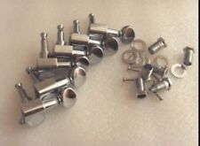 New Guitar Parts Tuners, 6inline, Small Oval Button - Chrome