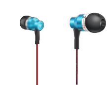 OVLENG MK-5 Fabric Cable In Ear Style Metal Earphone with Mic-Blue