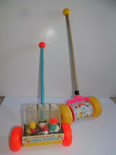 Vintage Fisher Price Happy Hoppers Push Along Little People Popper Fisher Price