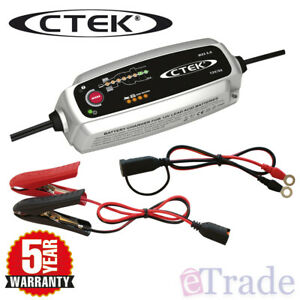 CTEK MXS 5.0 12V 5Amp Smart Battery Charger AGM Car Boat 4WD Caravan Bike Marine