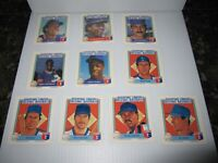 1988 Starting Lineup Talking Baseball Game NY Mets Cards (Lot of 14)