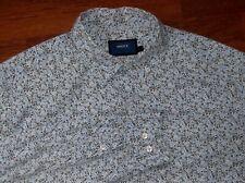 MEXX Blue/White Flower Pattern LS Shirt XLarge