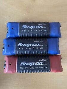 snap-on awmef8k awmef6k awef6k allen wrench sets