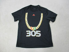 Adidas Miami Hurricanes Shirt Adult Large Large Turn Over Chain UM Football Mens