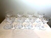 "SET OF 8 SUPERB Stuart Cut Crystal CARDINAL CLARET WINE GLASSES 5-1/4""  MINT!!"