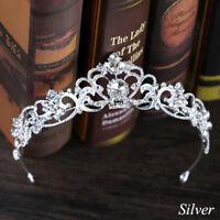 Crystal Bridal Wedding Prom Pageant Tiara Headpiece King Crown Veil Headband