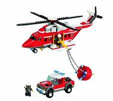 LEGO City Town Set 7206 Fire Elicottero 2010 blocchi di mattoni COMPLETO