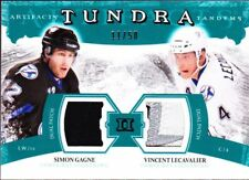 2011-12 ARTIFACTS TUNDRA TANDEMS PATCHES EMERALD #TT2LG LECAVALIER, GAGNE /50