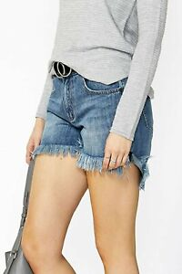 Decjuba Denim Shorts Avery Mullet Hem Women's Size 6