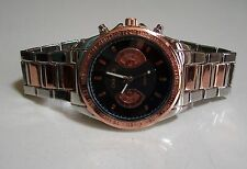 MEN'S SILVER/ROSE GOLD FINISH LIGHT WEIGHT FASHION DRESSY/CASUAL WEAR WATCH