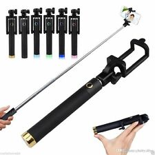Selfie Stick Portable Wired Foldable Extendable Monopod with AUX Cable